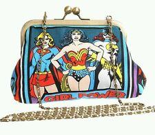 WONDER WOMAN BATGIRL SUPERGIRL DC COMICS HANDMADE HANDBAG CLUTCH PROM PARTY GEEK