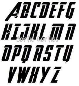 Alphabet Style avengers style alphabet letter stencil - reusable mylar - a6. a5, a4