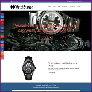 0b304ec7c5 Image is loading Fully-Stocked-Dropshipping -DESIGNER-WATCHES-Website-Business-034-
