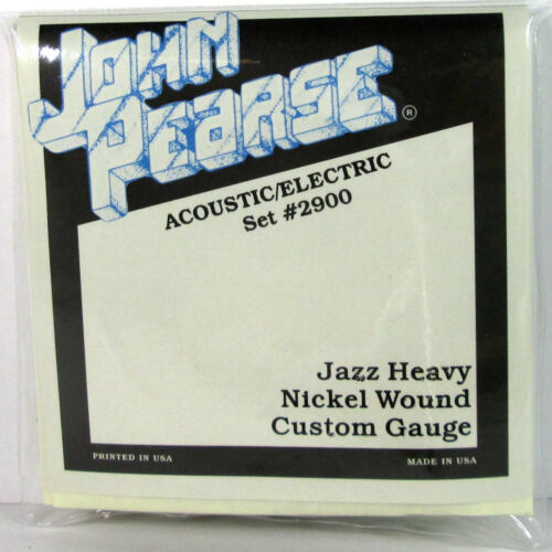 John Pearse 2900 Acoustic Electric Guitar Strings Jazz Heavy Nickle .013-.056