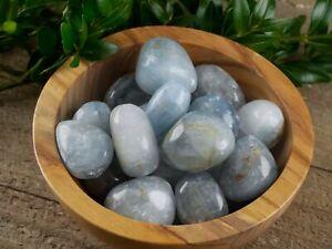Blue-CELESTITE-Tumbled-Stone-S-or-M-Size-Polished-Celestite-Crystal-E1382