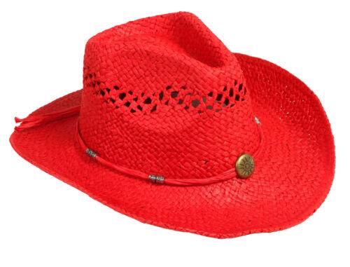 Unisex Toyo Cowboy Cowgirl Shapeable Rollup Rolled Brim Western Straw Hat Cap