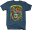 Multicolor-Neon-Color-Majestic-Lion-King-of-Jungle-Big-Cat-Safari-T-shirt thumbnail 6