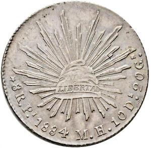 Mexico-8-Reales-Pi-1884-M-H-Potosi-Mint-KM-377-12