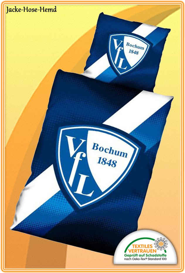 Bettwäsche VFL VFL VFL Bochum 1848 Logo Gr.80x80 135x200cm  NEU 60c34a