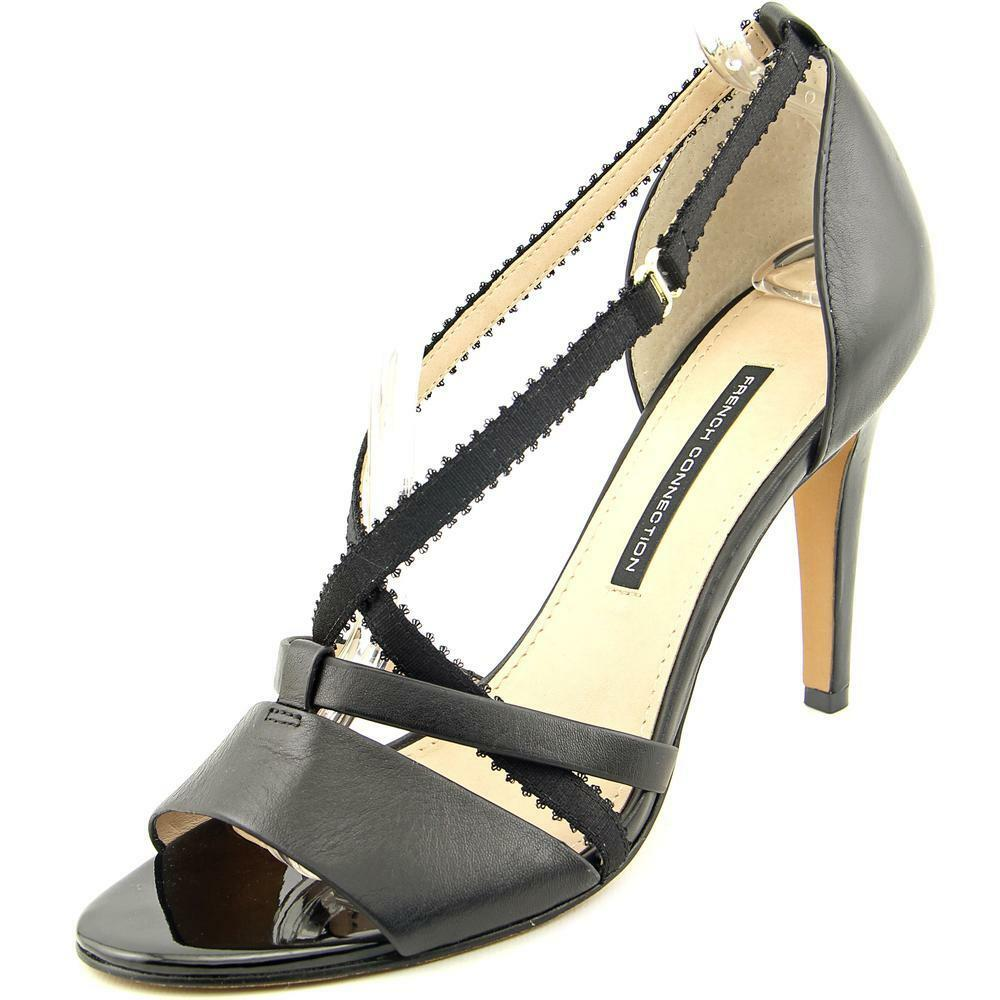 French Connection Nava Women Open-Toe Leather Heels