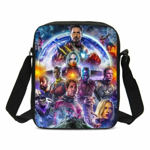 The Avengers Kids Backpack Marvel Movie Theme Kids Book Bag Lunch Bags Gift Lot