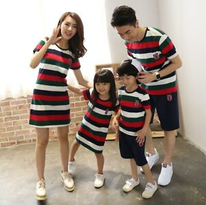 Family Matching Clothes National Shirts 2020 Father Mother Daughter Son Mom