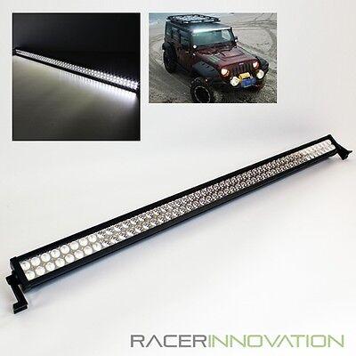 "52"" Inch 300W Off Road Spot+Flood 100 LED Light Bar Jeep/4x4 Roof Rack Work Lamp"