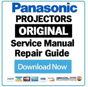 panasonic dlp lcd led home theater projector service manual and rh ebay com Chamberlain Garage Door Opener Manual Store Workshop Manual