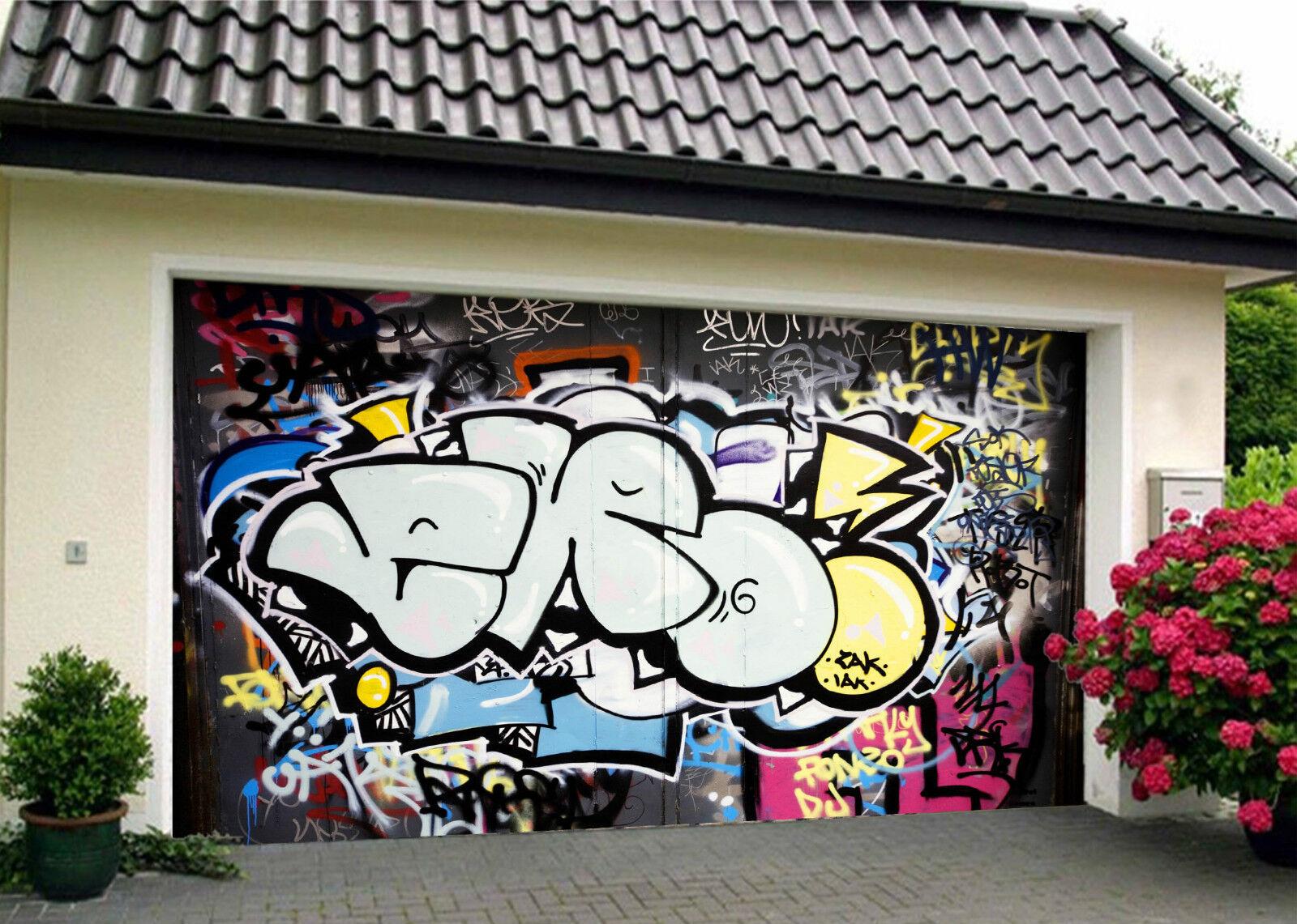 3D Polices Graffiti 976 Garage Porte Peint en Autocollant Murale AJ WALLPAPER FR