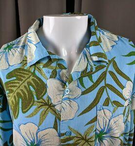 XL-Large-Aloha-Hawaiian-Blue-Hibiscus-Flower-Monsterra-Palm-Leaves