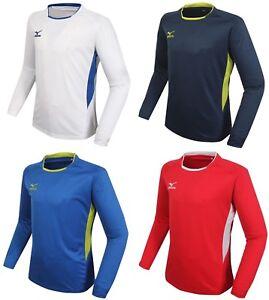 080bdae72aa4 Image is loading Mizuno-Men-Lagrange-L-S-T-Shirts-Jersey-Training-White-