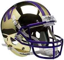 WASHINGTON HUSKIES Schutt AiR XP Full-Size REPLICA Football Helmet (GOLD CHROME)