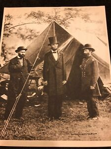 Rare-1909-Vintage-Photogravure-Print-of-President-Lincoln-In-the-Line-of-Battle