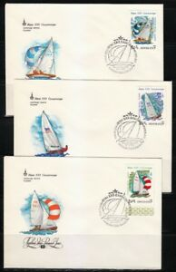 Russia-1978-set-of-5-FDC-covers-Moscow-80-Olympic-Games-Regata-Yacht-Sc-B79-B83