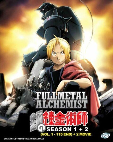 Anime DVD Fullmetal Alchemist Complete Series 2 Movie Live ...