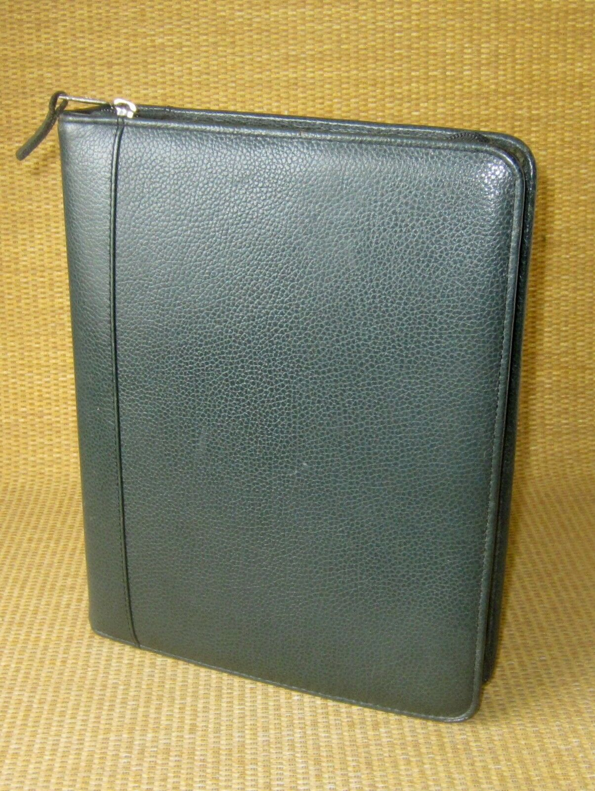 Classic 1.5  Rings   Green LEATHER FRANKLIN COVEY Quest ZIP Planner Binder USA