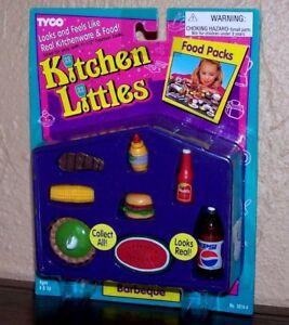 Tyco Kitchen Littles Barbie BARBEQUE BBQ LUNCH hamburger ...