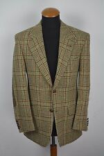 Mario Barutti Mens Blazer size 40R Harris Tweed Wool Plaid gr 50 Elbow Patches