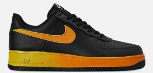Details zu NIKE AIR FORCE 1 '07 LV8 MEN's CASUAL BLACK ORANGE PEEL OPTI YELLOW NEW SIZE