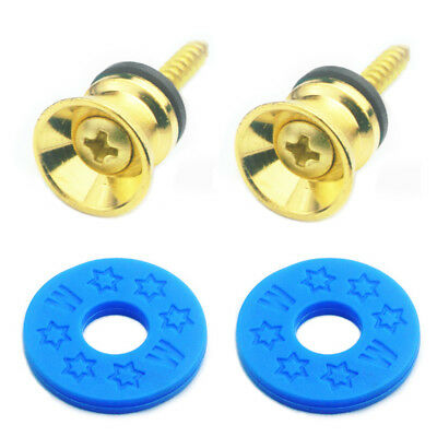 as described Gold Finest 2x Strap Lock Buttons Replacement for Electric Acoustic Guitar Parts