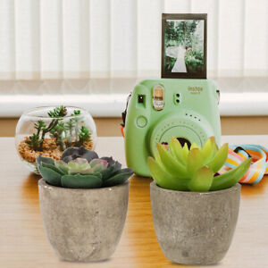 4pcs Chic Fake Green Plant Artificial Potted Plant for Office