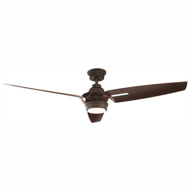 "Home Decorators Iron Crest 60"" LED DC Motor Indoor Espresso Bronze Ceiling Fan"