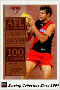 2012-Select-AFL-Champions-Milestone-Card-MG16-Patrick-Ryder-Essendon