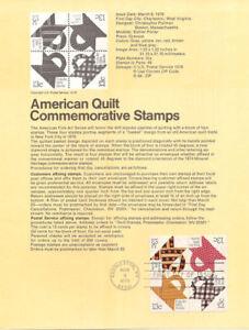 7806-13c-Am-Quilts-Stamps-4-1745-48-USPS-Souvenir-Page