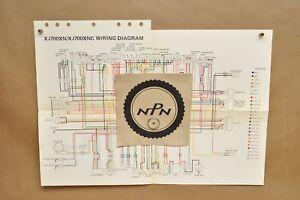 details about vtg 1985 yamaha maxim xj700 xn xj700 xnc color schematic wire wiring diagram 1982 Yamaha Maxim 650 Stock Bobber