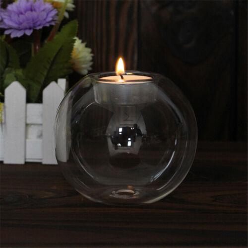 Kristallglas-Kerze-Halter-Hochzeits-Bar-Partei-Abendessen-Dekor-Kerzenständer X