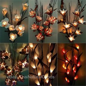 Details About Artificial Flower Lamps Vase Floor Table Night Light Wedding Lighting