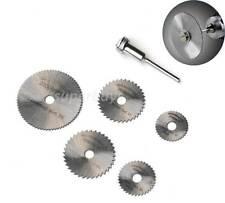 6pc Circular Saw Mandrel Cutting Cutter Disc Blade Dremel Drill Bit Rotary Tool