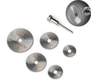 6pc-Circular-Power-Saw-Cutting-Blade-Abrasive-Drill-Bit-Die-Grinder-Mandrel-Set