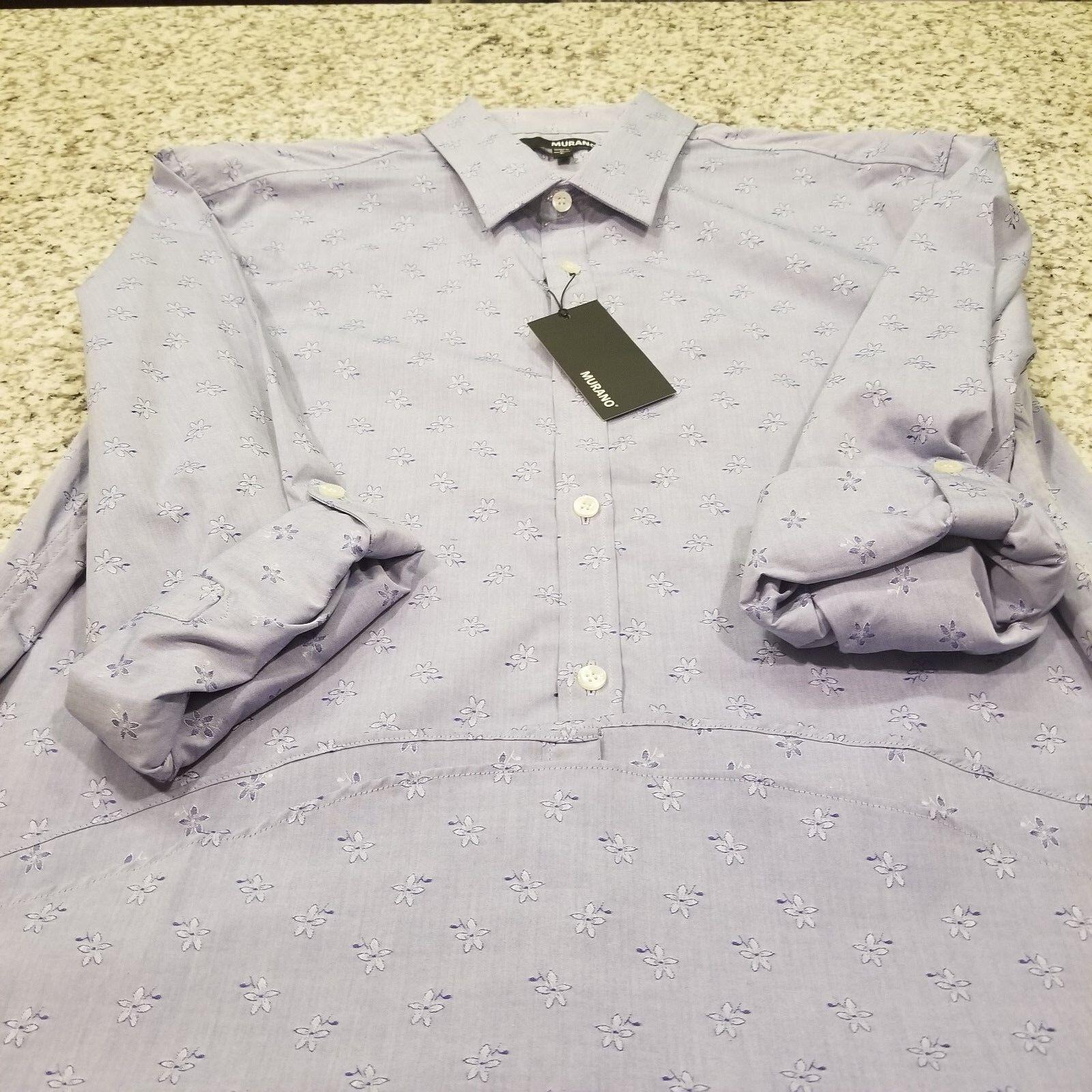b339ead9 Men's MURANO Sleeve Shirt bluee XLT NEW Long nwsbnn6829-Casual ...