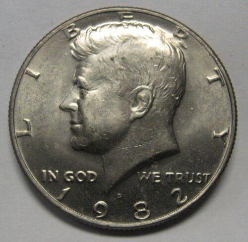 1982-D John F Kennedy Clad Half Dollar Choice BU Condition From Original Roll