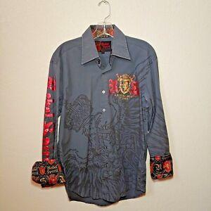 Rebel Spirit Gray  A Royal Way of Life Shirt Men's Medium