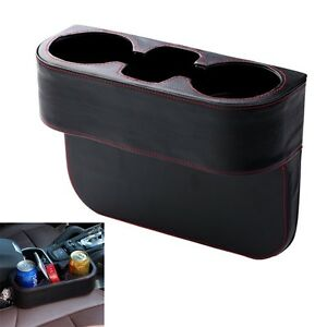 Image Is Loading Universal Leather Car Seat Dual Cup Drink Bottle