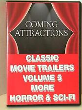 CLASSIC MOVIE TRAILERS - VOLUME 5 - MORE HORROR & SCI-FI (NEW)