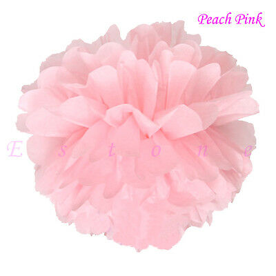 "10pcs 6"" 8"" 10"" 12"" 15"" Tissue Paper Pom Flowers Balls Wedding Party Decor new"