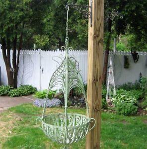 Lg-Hanging-Basket-Mint-Green-Basket-Weave-Latticed-Top