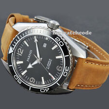 45mm Parnis black dial Sapphire Glass Ceramic Bezel Automatic mens Watch 289