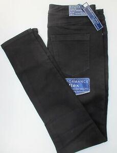 Ladies-Bandolino-Lisbeth-Curvy-Skinny-Leg-Stretch-Jeans-Black-Blue-UK-10-12-14