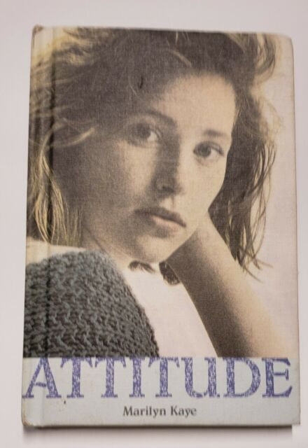 Vintage Book 1990 Attitude: The Portraits Collection by Marilyn Kaye Hardcover