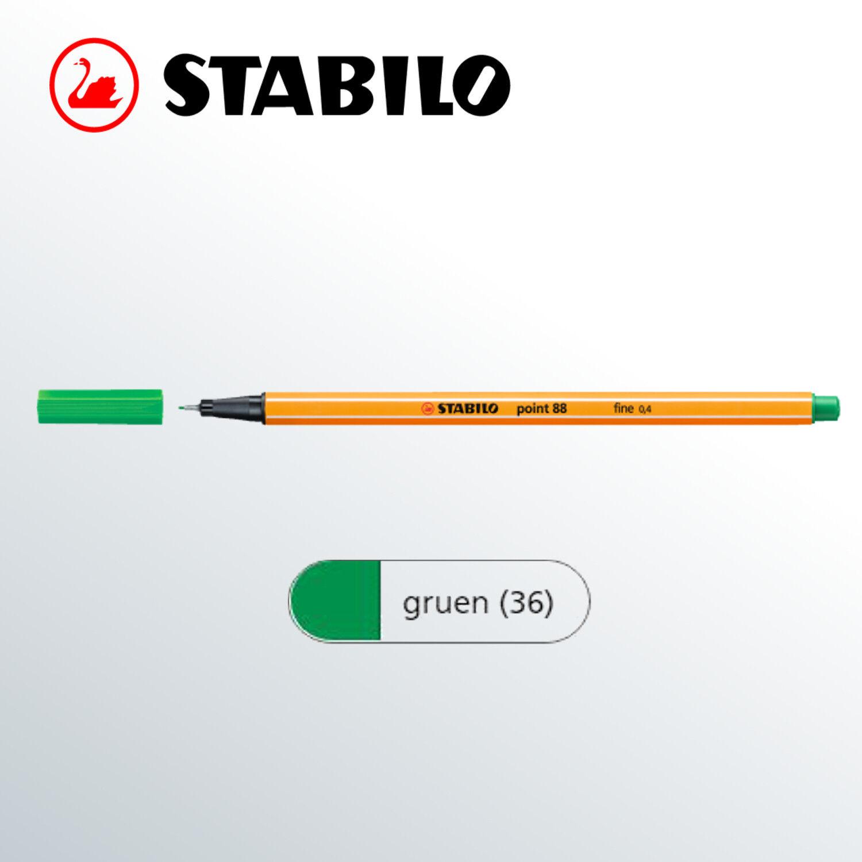 0,4 mm eisgrün STABILO Fineliner point 88 Strichstärke