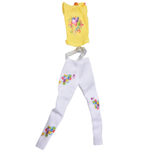 Special Yellow Vest Suit for  Dolls White Pants Fashion Cloth Two-Piece VG