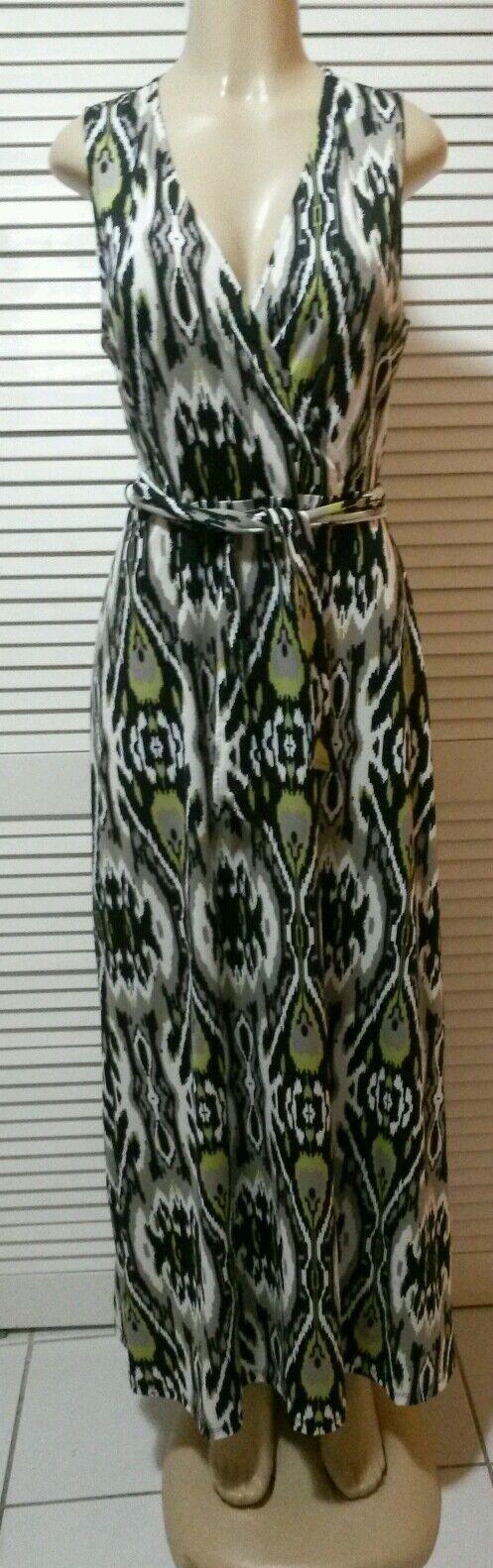 INC International Concepts Multicolor Printed Fauxwrap Maxi Dress Size Large