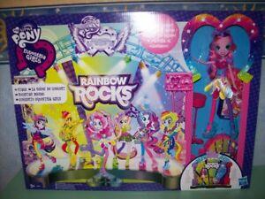 Copieux Mon-petit-poney-equestria-filles-rainbow-rocks-mane-Événement-stage-w-pinkie- Cadeau IdéAl Pour Toutes Les Occasions