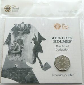 2019-Royal-Mint-Sherlock-Holmes-50p-Fifty-Pence-Coin-Pack-Sealed-Uncirculated